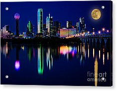 Dallas At Twilight Acrylic Print by Tamyra Ayles