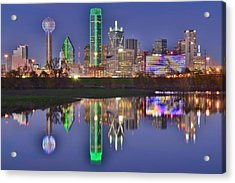 Dallas Blue Hour Acrylic Print by Frozen in Time Fine Art Photography