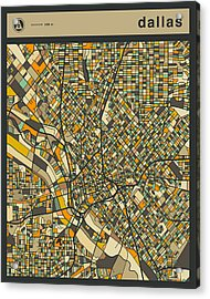 Dallas City Map Acrylic Print