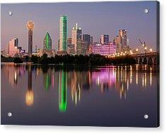 Dallas City Reflection Acrylic Print