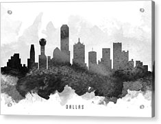 Dallas Cityscape 11 Acrylic Print by Aged Pixel