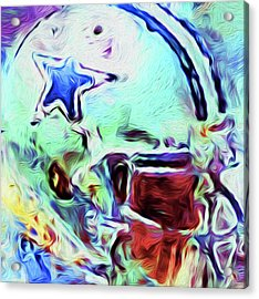 Dallas Cowboys By Nixo Acrylic Print