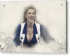 Dallas Cowboys Cheerleader Katy Marie Performs Acrylic Print