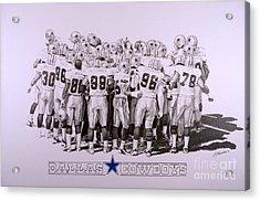 Dallas Cowboys Acrylic Print by Shawn Stallings