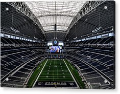 Dallas Cowboys Stadium End Zone Acrylic Print