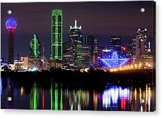 Dallas Cowboys Star Night Acrylic Print