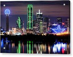 Dallas Cowboys Star Skyline Acrylic Print