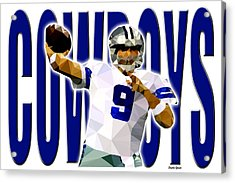 Dallas Cowboys Acrylic Print by Stephen Younts