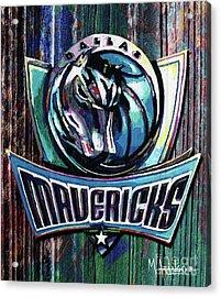 Dallas Mavericks Acrylic Print by Maria Arango