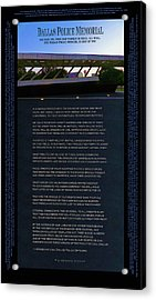 Dallas Police Memorial Poster - Updated 2017 Acrylic Print by Robert J Sadler