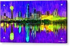 Dallas Skyline 4 - Da Acrylic Print
