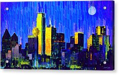 Dallas Skyline 63 - Pa Acrylic Print
