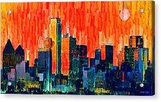 Dallas Skyline 68 - Da Acrylic Print