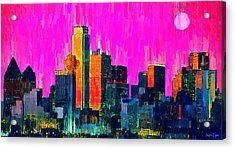 Dallas Skyline 70 - Pa Acrylic Print