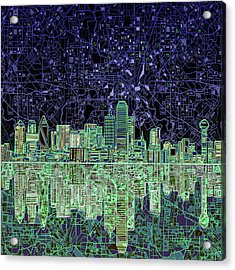 Dallas Skyline Abstract 4 Acrylic Print