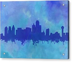 Dallas Skyline Blue 2 Acrylic Print