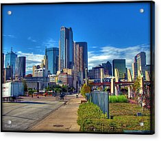 Dallas Skyline Acrylic Print by Farol Tomson