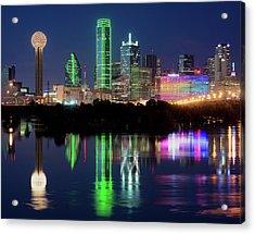 Dallas Skyline Reflection 91317 Acrylic Print