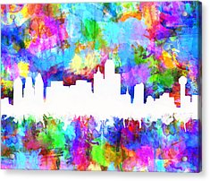 Dallas Skyline Vibrant Colors Acrylic Print