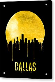 Dallas Skyline Yellow Acrylic Print