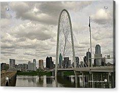 Dallas Suspension Bridge Acrylic Print