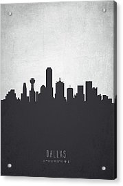 Dallas Texas Cityscape 19 Acrylic Print by Aged Pixel
