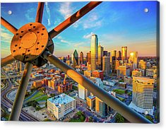 Dallas Texas Skyline At Sunset  Acrylic Print
