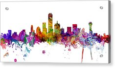 Dallas Texas Skyline Panoramic Acrylic Print