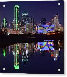 Acrylic Print featuring the photograph Dallas Texas Squared by Frozen in Time Fine Art Photography