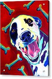 Dalmatian - Yum Acrylic Print by Alicia VanNoy Call