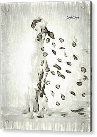 Dalmatian Windy Day - Pa Acrylic Print