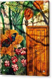 Damanhur Door Acrylic Print by Paul Cutright