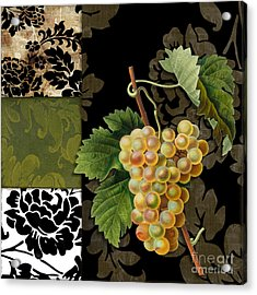 Damask Lerain Wine Grapes Acrylic Print by Mindy Sommers