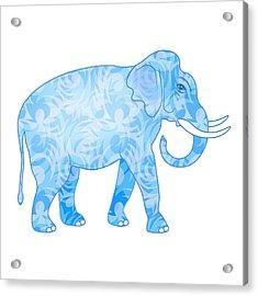 Damask Pattern Elephant Acrylic Print