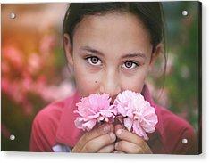 Damask Roses Acrylic Print