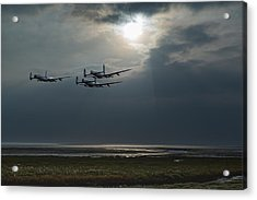 Dambusters Training Over The Wash Acrylic Print by Gary Eason