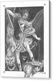 Damnation Of Evil Acrylic Print by Julian  B