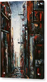 Damp And Cold Acrylic Print by Debra Hurd