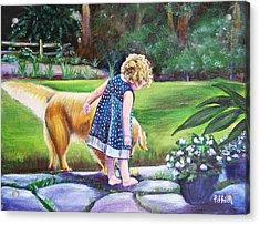 Dana And Friend Acrylic Print by Patricia Piffath