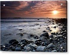 Dana Point Shoreline Acrylic Print by Eric Foltz