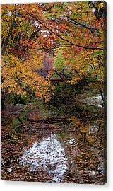 Danbury Bridge In Fall Acrylic Print