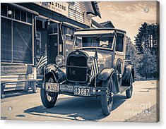 Danbury Country Store Ford Pickup Acrylic Print by Edward Fielding