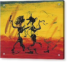 Dance Art Dancing Couple Xii Acrylic Print