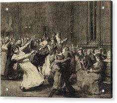 Dance At Insane Asylum Acrylic Print by George Wesley Bellows