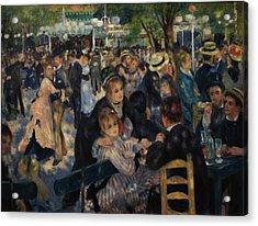 Dance At Moulin De La Galette Acrylic Print by Pierre Auguste Renoir