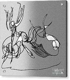 Dance At Sunrise Bw Acrylic Print