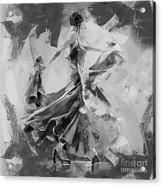 Acrylic Print featuring the painting Dance Flamenco 01 by Gull G