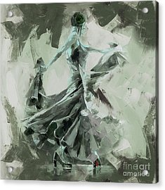 Acrylic Print featuring the painting Dance Flamenco Art  by Gull G