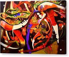 Dance Frenzy Acrylic Print by Georg Douglas