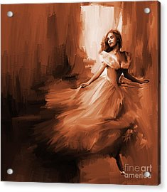 Dance In A Dream 01 Acrylic Print by Gull G